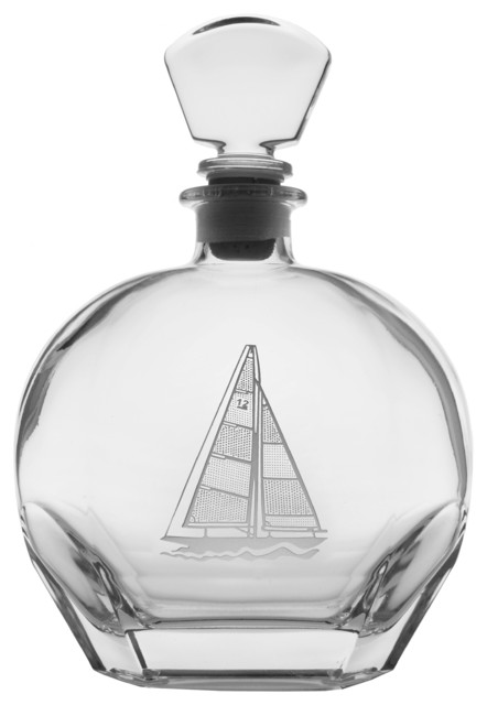 Sailboat Whiskey Decanter - Beach Style - Decanters - by ...