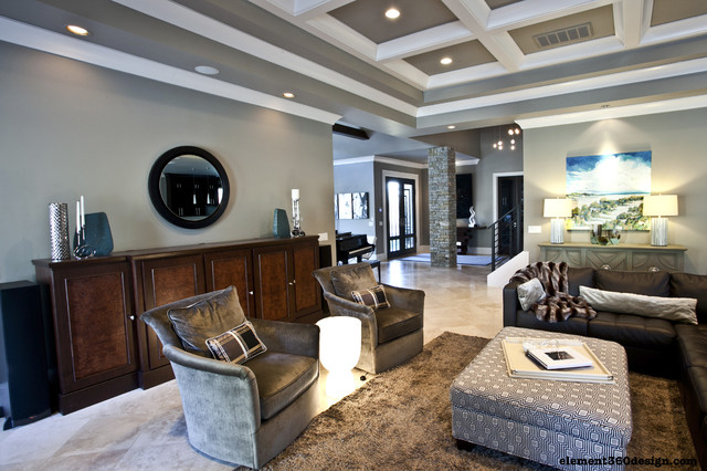 Modern With A Twist modern-family-room