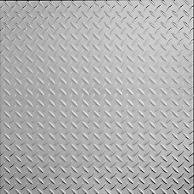 "Diamond Plate - Aluminum Ceiling Tile - 24""x24"" - #2474 traditional-ceiling-tile"