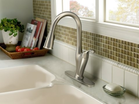 Moen Benton Spot resist stainless one-handle high arc pulldown kitchen faucet  kitchen faucets