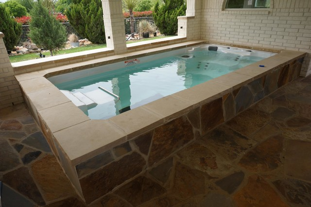 15 39 Endless Pool Swim Spa Rustic Hot Tub And Pool Supplies Other Metro By Endless Pools