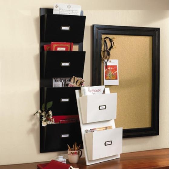 Wood Wall Pockets traditional-display-and-wall-shelves