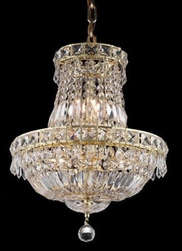 Tranquil 6 Light Chandelier with Crystal modern-chandeliers