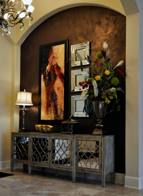 Foyer Art Niche : Transitional entryway traditional entry houston by