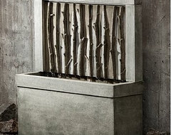 Birches Outdoor Water Fountain traditional-outdoor-fountains-and-ponds