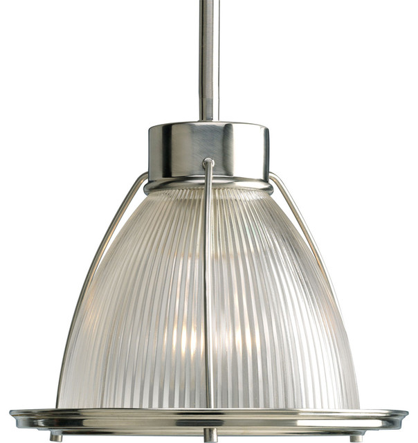 Progress Lighting Light Mini Pendant With Clear Prismatic Glass Transitiona