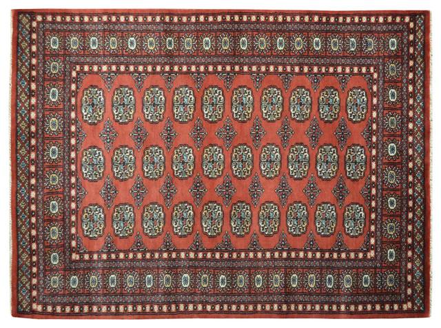 100% Wool Hand Knotted Bokara Elephant Feet Design Oriental Rug Sh15113 traditional-rugs