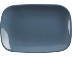"Leone 8""x5.5"" Blue Plate contemporary-dinner-plates"