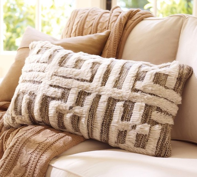 Kendi Hand Knotted Lumbar Pillow Cover Contemporary