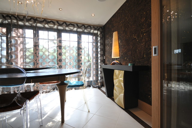 New built property in Cheshire contemporary-dining-room