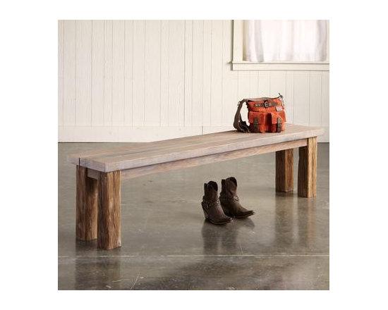 Salt & Vinegar Redwood Bench -