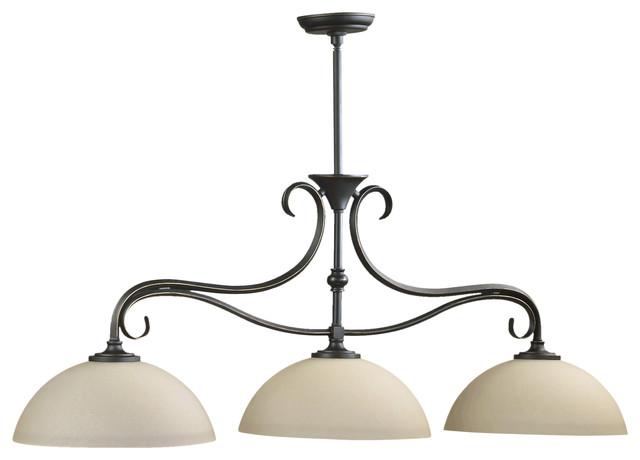 Quorum International 6508-3-95 Powell Old World Island Light contemporary-pendant-lighting