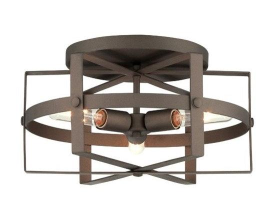 Varaluz - Varaluz   Reel 3 Light Flush Mount Ceiling Light - Design by Ron Henderson, 2014.
