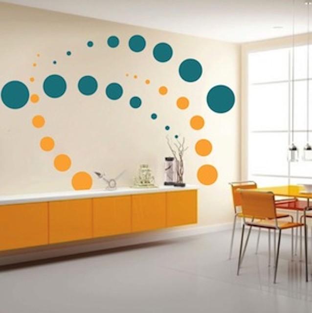 Contemporary Evolution Dots Wall Decal Contemporary