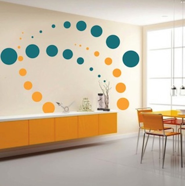 Contemporary Evolution Dots Wall Decal Contemporary