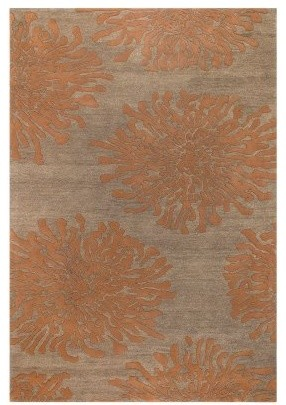 Surya Bombay BST-495 Area Rug - Sand Brown/Burnt Orange modern-rugs