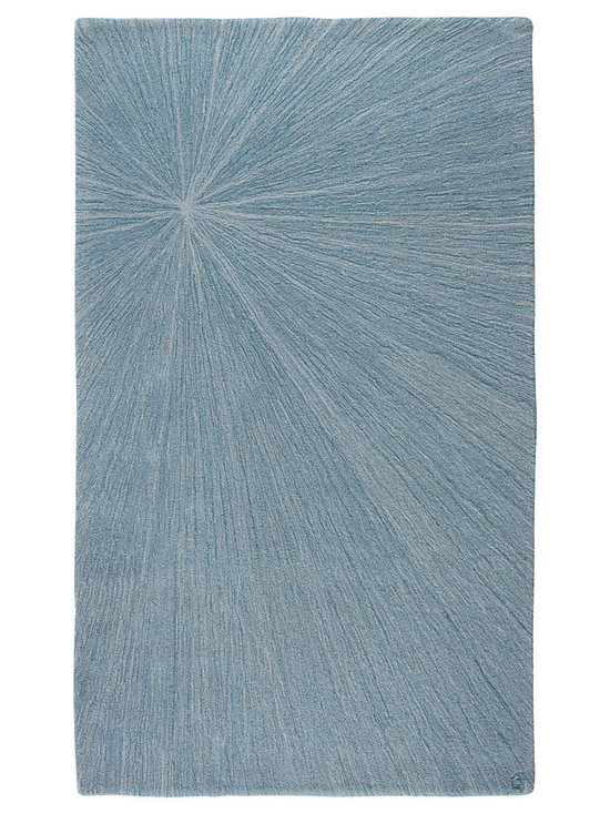 Grace, Hand-Tufted Wool Rug - The Grace design is a bold starburst of subtle blended color in a soft, cut pile. angela adams hand-tufted wool rugs are incredibly unique, textural and timeless. Made with 100% New Zealand wool. Cut pile.