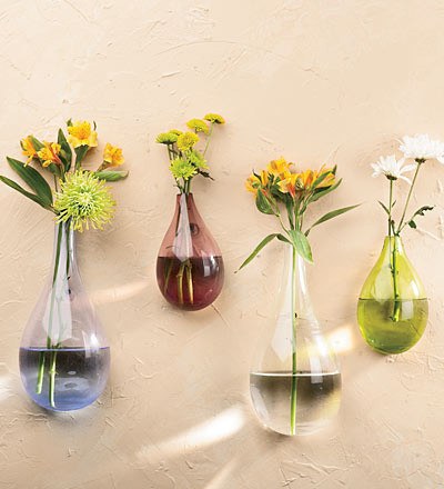 Teardrop Wall Vases modern vases