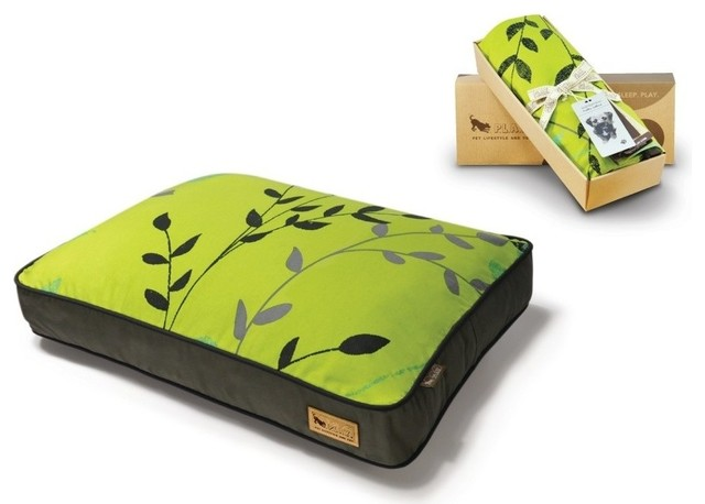 P.L.A.Y. Greenery Rectangular Bed Cover Pear/Rifle Green Large modern-pet-care