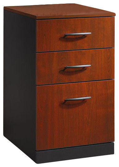 Sauder Via 3 Drawer Pedestal Mobile Cabinet in Classic Cherry - Transitional - Filing Cabinets ...