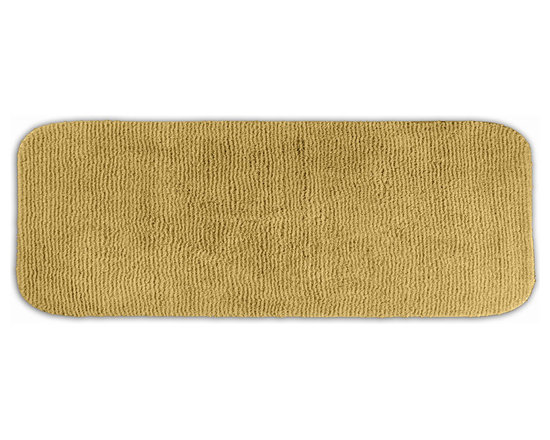 "Sands Rug - Cheltenham Linen Washable Runner Bath Rug (1'10"" x 5') - Add a layer of plush comfort and safety with the inviting Cheltenham bath and spa rug collection. Each piece, whether a bath runner, bath mat or contoured rug, is created from soft, durable, machine-washable nylon. Each floor piece is backed with skid-resistant latex for safety."
