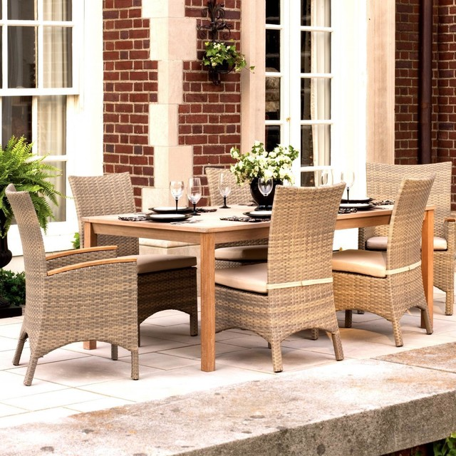 Oxford Garden Torbay 6 Person Resin Wicker Patio Dining