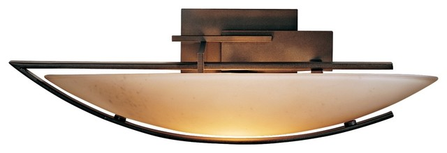 """Arts and Crafts - Mission Oval Ondrian Left Stone Glass 17 3/4"""" Wide Wall Sconce modern-wall-lighting"""