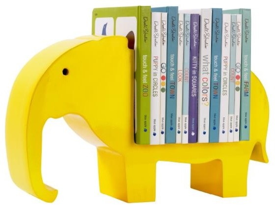DwellStudio | BOOKSHELF ELEPHANT LEMON - Room Decor - Kids kids-decor
