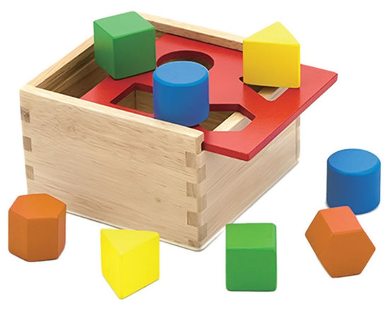 The Original Toy Company - The Original Toy Company Kids Children Play Shape Sorter - Our sorting box is made of sturdy harwood construction offereing 4 geometric colorful shapes, packaged in retail packaging. Weighs approximately 2.00 pounds.
