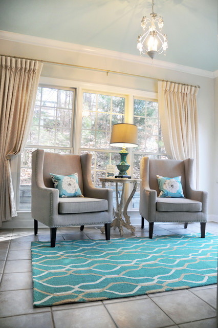 Sunroom office farmhouse home office charlotte by for Sunroom office design