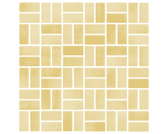 """Susan Jablon Mosaics - Butterscotch Iridescent Glass Tile - This glass tile blend is made from 1"""" x 2"""" hand made glass mosaic tile in honey tones. The appearance is equally elegant yet simple. Pair this with your light or brown toned counter top for understated style and sophistication.This butterscotch iridescent subway glass tile is a mix of clear and opaque streaks with a glimmering iridescent sheen across the surface. With it's slightly rough edges it gives a wonderfully natural, organic feel anywhere it's used. These stylish glass tiles are the design idea you are searching for. With a slightly irregular, beveled edge and in a wide range of colors, sizes, and finishes, these tiles complement any design goal from warm rustic, to chic retro, to elegant contemporary. Use these tiles today for your new or remodeled kitchen backsplash, bathroom or any wall in your home or business. It is very easy to install as it comes by the square foot on mesh and it is very easy to clean! About a decade ago, Susan Jablon re-ignited her life-long passion for mosaics and has built a customer-focused, artist-driven, business offering you the very best in glass and decorative tiles and mosaics. We are a glass tile store committed to excellence both personally and professionally. With lines of 100% SCS Qualified recycled tile, 12 colors and 6 shapes of mirror, semi precious turquoise stones from Arizona mines, to color changing dichroic glass. Stainless steel tiles in 8mm and 4mm and 12 designs within each, and anything you can dream of. Please note that the images shown are actual photographs of the tiles however, colors may vary due to the calibration of each individual monitor. Ordering samples of the tiles to verify color is strongly recommended."""