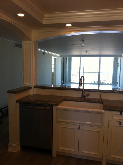 Quaint Beachfront Condo Remodel Beach Style Kitchen Miami By Cawthra Construction