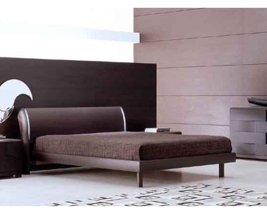 Trendy Modern Italian Bed By SMA Mobili - Minimalist meets futurism with the Trendy Modern Italian Bed. Its smooth and curved headboard features subtle light strips on either side,and its platform structure aligns to the sides of your mattress. Luxurious and truly beautiful,the bed turns your room into pure relaxation.