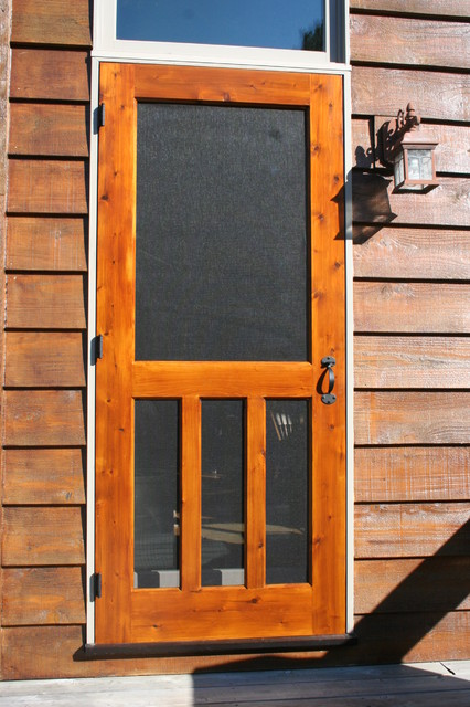 Wood Screen Door Traditional Screen Doors