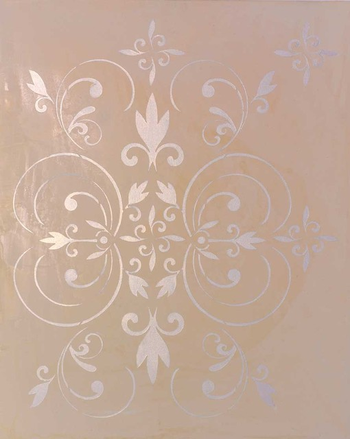 'Fleur Scroll' Damask traditional