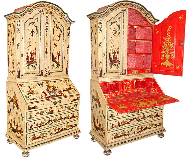 An 18th Century Venetian Chinoiserie Secretaire traditional-storage-cabinets