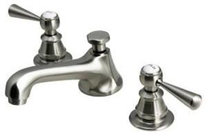 "American Classic ""1920"" Adjustable Widespread Faucet, Satin Nickel modern-bathroom-faucets"