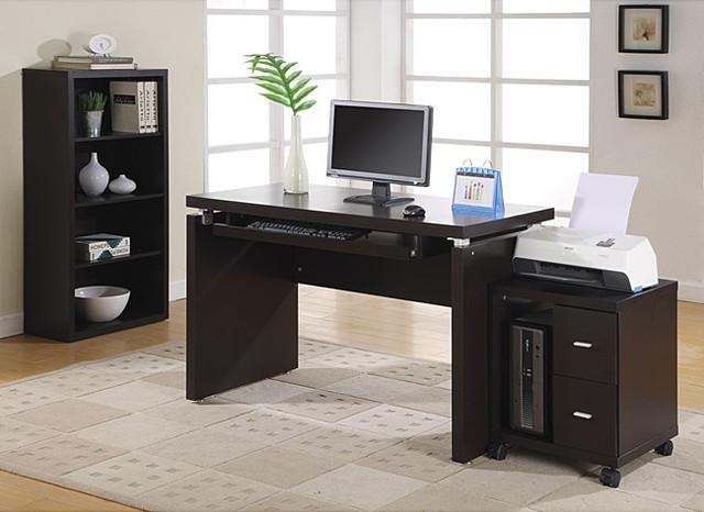 Cappuccino 48 Inch Long Computer Desk Contemporary