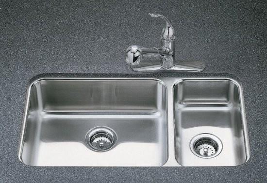 KOHLER K 3352 NA Undertone High Low Undercounter Kitchen Sink Contemporary