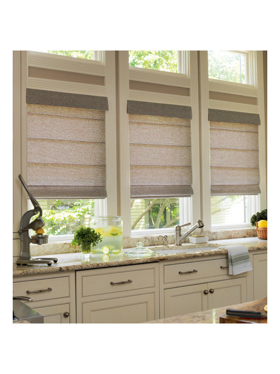 Levolor - Levolor Roman Shades: Leaf Patterns (Room Darkening) - The new and improved line of roman shades from Levolor features a broad selection of colors, fabrics and options.  Flora reigns supreme with the room darkening versions of these two leaf patterns from Levolor.