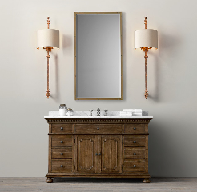 Vanity Lights Restoration Hardware : St. James Vanity Sink - Traditional - Bathroom Vanities And Sink Consoles - by Restoration Hardware