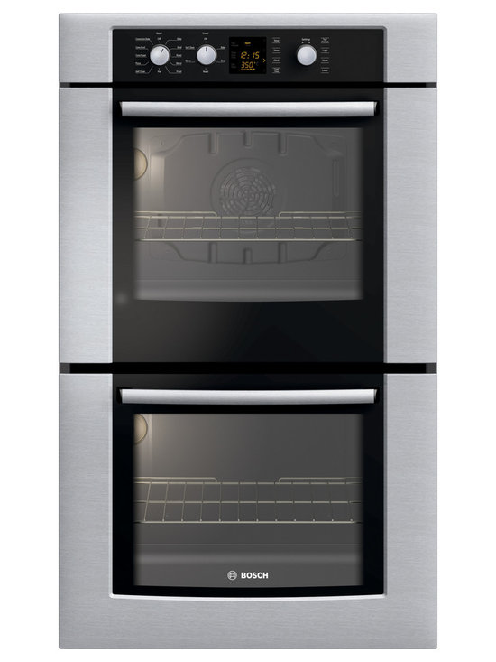 """Bosch 30"""" 300 Series Double Wall Oven With Convection, Stainless 