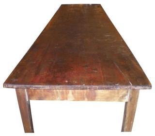 SOLD OUT! Long Primitive Pine Schoolroom Table - $3,900 Est. Retail ...