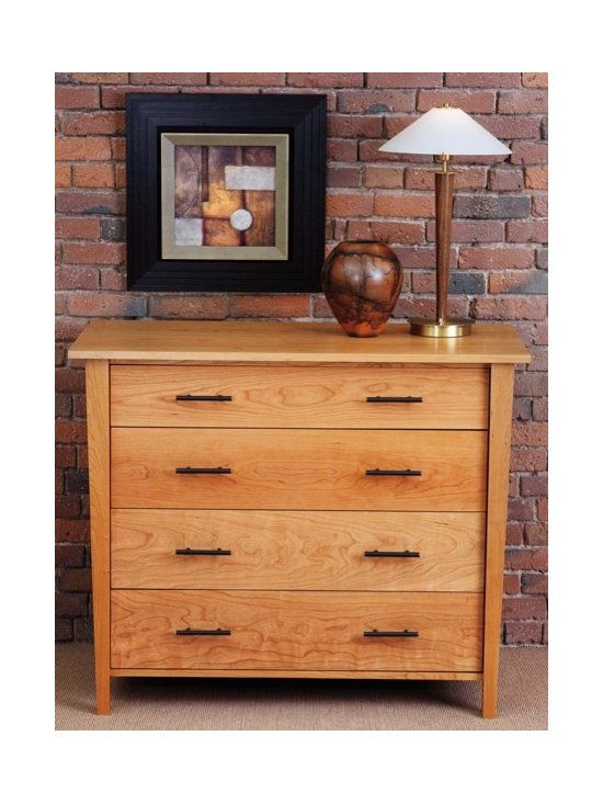 BERKELEY 4 DRAWER VERTICAL DRESSER - The Berkeley collection has crisp, beautiful lines that are sure to please. With a broad top and narrowing footprint, the pieces in this collection are truly interesting. The berkeley style is right at home with styles from country to contemporary.