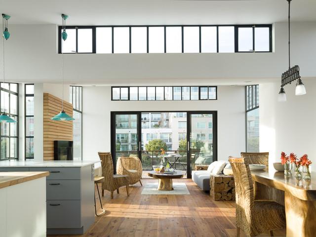 San Francisco Floating House modern-living-room