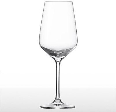 Set of Six Soft White Red Glasses traditional-everyday-glassware