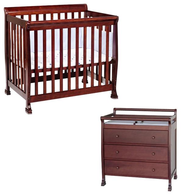 Davinci Kalani Convertible Mini Wood Crib Set With