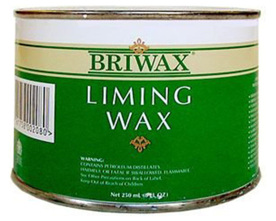Briwax - Briwax Liming Wax, 8 Oz - This liming wax by Briwax can be used on any stripped wooden surface to make it look naturally aged. It's guaranteed to fill in the grain of any wood surface evenly and effectively. Just rub it into an unfinished wooden surface and watch as the grain fills out with that aged, whitened look.