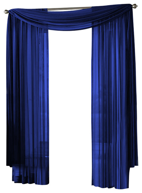 hlc me sheer curtain window navy panel traditional