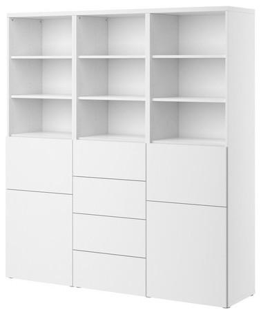 BESTÅ Storage combination w doors/drawers modern-storage-cabinets